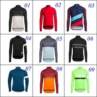 Wholesale Rapha Long Sleeve Cycling Jerseys Winter Thermal Men Bicycle Clothing Ropa Ciclismo Blue Green Black Road MTB Bike Wear Warmer Sports