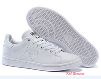 mens shoes - 2016 New design Raf Simons Stan Smith Shoes White Black Casual Leather skate Shoes brand mens womens Classic Flats Sneakers