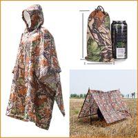 Wholesale Multifunctional Raincoat Rain Wear in Outdoor Travel Rain Poncho Backpack Rain Cover Waterproof Tent Awning Camping Hiking