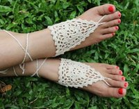 amazon europe - 2016 barefoot sandals Europe and the United States amazon knitting craft flower hand hook were the feet act the role ofing is tasted