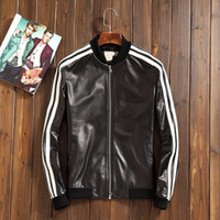 Wholesale Men s outerwear genuine leather jacket same as star item shoppe copy casual and fasion newzeland import sheepskin soft comfortable