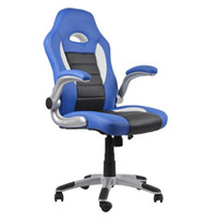 executive chair - Homall Ergonomic High Back PU Leather Mesh fabric Racing Style Bucket Seat Computer game chair Lumbar Support Executive Office Chair