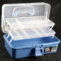 Wholesale Inch Blue color Transparent Box PP Tool Cabinet Maleta Caja De Herramientas Portable Fittings Box Household Storage