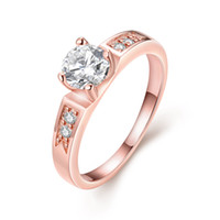 Wholesale Hot Sale New Women Exquisite Zircon Diamond Ring Fashion Rose Gold Mosaic Gem
