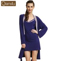 Wholesale Women Dress Robes Modal Robe Set For Women Ladies Nightgown Suit Sexy Hot Slaes Bathrobe