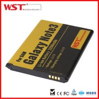 Wholesale WST for samsung galaxy note Battery mAh batteries for android For Note3 N9006 N9008V N9002 N9009 N9000 Cell phone batteries