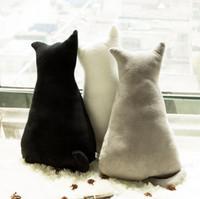 bearing seat - 45cm Super cute soft plush back shadow cat seat sofa pillow cushion stuffed cartoon pillow creative birthday gift for girls