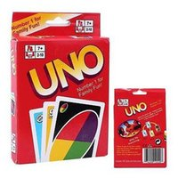 Wholesale 2016 hot UNO poker card standard edition family fun entertainment board game Kids funny Puzzle game