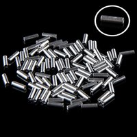 aluminum wire rope - 100Pcs mm mm Length mm Diameter Aluminum Ferrules Wire Rope Aluminum Ferrules Crimping Sleeve VCJ39 P18