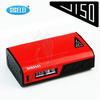 battery j - Authetnic Sigelei J150 TC Box Mod J W Li polymer Battery ZINC Alloy J80 Fuchai w Xcube Ultrau H priv Chip Vapor Mods e cigarettes DHL