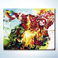 art operas - Peking Opera Wall Art DIY Painting Baby Toys x50cm Coloring Canvas Oil Painting Drawing Wall Art for Hotel Decoration with Green Acrylic