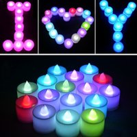 Wholesale 1PCS Romantic Creative Multicolor LED Electronic Candles Wedding Accessories Luxury Beautiful Home Decorations for Wedding Party Holiday