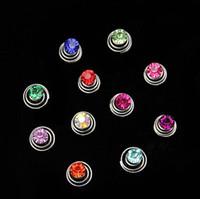 Wholesale Rhinestone Coil Swirl Spiral Twist Hair Spin Pins Women Brides Tiara Simple Elegant Hair Jewelry Accessories S