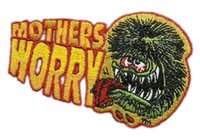 big daddy roth - 3 quot BIG DADDY ROTH RAT FINK MOTHERS WORRY HOT ROD PATCH ROCKABILLY BIKER PATCH Embroidered Iron On Motorcycle Biker Vest Badge