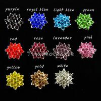 baby embellishment - hot mm Star shape shiny crystal pearl rhinestone embellishment button for wedding invitation baby hair accessory