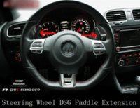 Wholesale CARBON FIBRE STEERING WHEEL SHIFT PADDLE Extensions x for VOLKSWAGEN VW GOLF MK5 MK6 GTI R20 DSG PASSAT R36 JETTA SCIROCCO EOS