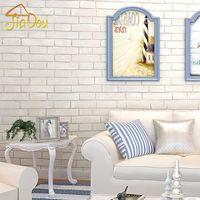 art prints store - 3D Non woven Wallpaper Imitation Brick Pattern Living Room Bedroom Clothing Store White Brick Pattern Wall Decor Art Wall Paper