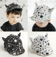 Wholesale Baby Baseball Cap Sun Hat for Boys Girls Ox Horn Stars Style Children Kids Casquette Adjustable Infant Toddler Snapback Caps