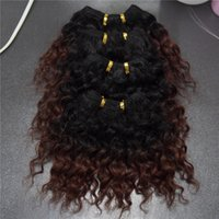 Cheap Angel wave 6A Ombre Human Hair Extension 6 Inch Brazilian Water Wave Curly Hair Short Size 4pcs lot 100g lot Cheap Human Hair