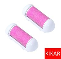 Wholesale 2 xCallus Remover Replacement Roller Head Foot Spa Dead Dry Hard Rough Skin Care KIKAR Spare Blades Pedicure Polish Shaver Knife Scrub Stone
