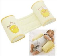 Wholesale baby fixed pillow Cotton baby sleeping Safety Protection finalize Yellow ducklings correcting flat head special pillow EA020