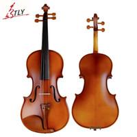 antique violins - TONGLING Professional Violin Antique Maple Violin Handmade Matt Violino High Grade Date Wood