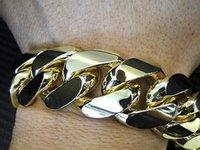 big curbs - Solid Men Yellow Gold K Big Miami Cuban Link Curb Bracelet mm Wide g