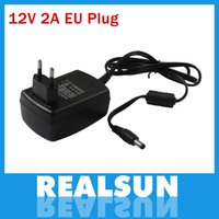 Wholesale Free DHL200pcs W Power Supply Wall Charger Adapter AC V to DC V A Converter EU US Plug High Quality