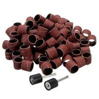 Wholesale New set Sanding Bands Kit Sanding Drum Mandrels for Dremel Rotary Tools High Quality