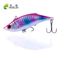 bass fishing games - 100pcs HENGJIA CM G isca artificiais d luminous pesca Game VIB Fishing lure carp fishing tackle hard bait vibrator bass