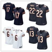 bears authentic jerseys - 2016 hot sale women football Jerseys Chicago cheap Bears Alshon Jeffery rugby Game jerseys authentic football jerseys size S XL
