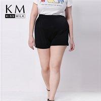 Wholesale Kissmilk Plus Size New Fashion Women Preppy Style Big Size Slim Sport Casual Short Pants XL XL XL XL