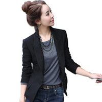 Wholesale 2016 Autumn New women small suit jacket Korean version of Ms All Match Slim casual suit large size women was thin blazer W1426