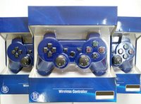 Wholesale Wireless Bluetooth Game Controller Gaming PC Sixaxis Joystick Gamepad For Playstation PS3 With retail box DHL