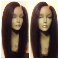 banks open - Black Women U Part Wigs Unprocessed Silky Straight U Part Human Hair Wigs Left Opening Brazilian Upart Wig For Sale