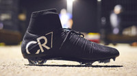 Wholesale New colors Ronaldo CR7 Soccer Shoes men size Soccer Boots Mercurial Superfly FG mens outdoor sports Shoes Soccer Cleats