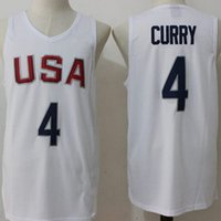 Wholesale 2016 USA Dream Olympic Men s Basketball Home Away Authentic Jersey High Quality Wear