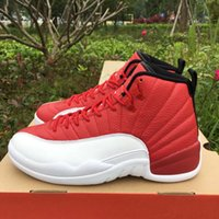 polyester satin - DROP SHIPPING retro Gym Red With Real Carbon Fiber Men Basketball Sport Shoes Size ship With box