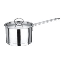 Wholesale Quality Stainless Steel Milk Pot Stock Pot Sauce Pan Multi Pot with Cover Three layer Bottom Out Flames and Indution Suitable