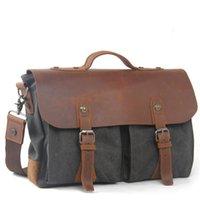 Wholesale 2016 New Fashion Shoulder Bag Handbag Briefcases Handmade Flap Pocket Two Pockets Front