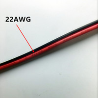 Wholesale 10m awg Extension Cable Wire Cord led Strips Single Colour Red Black pin Hookup Wire V V V DC