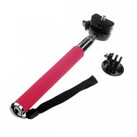 Wholesale Extendable Handheld Monopod Tripod Mount Adapter for GoPro Hero Camera Red