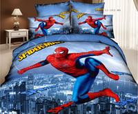 Wholesale DHL Marilyn Monroe Spiderman Superman Cotton Duvet Cover Set High Quality Creative Bedding Sheets Set