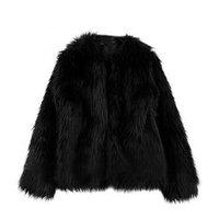 Wholesale 2016 Hot Fashion New Ladies Womens Warm Faux Fur Fox Coat jacket Winter Parka Outerwear Color Plus Size S M L XL DX100