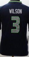 baseballs wilson - Youth NIK Game Football Stitched Blank Wilson Fan Kearse Tyler Lockett White Blue Grey Green Jerseys Mix Order