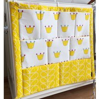 baby cot size - Hotselling Baby Cot Bed Hanging Storage Bag Cotton Kids Crib Organizer Size cm Toy Diaper Pocket for Crib Bedding Sets