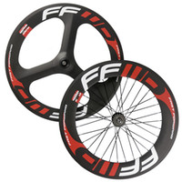 Wholesale 700C full carbon front spokes wheel rear mm fixed gear wheel clincher chinese carbon wheels