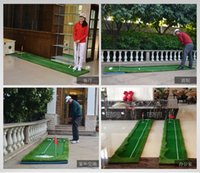 Wholesale Golf green the newest golf training aids Golf practice blanket free send putter golf ball red flag brush