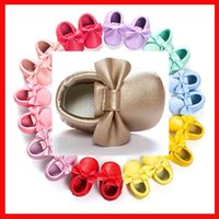 Wholesale Handmade Soft Bottom Fashion Tassels Baby Moccasin Newborn Babies Shoes colors PU leather Prewalkers Boots Hot