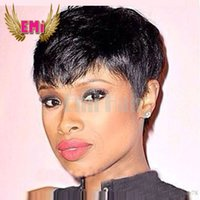 black women wigs - Short Human Hiar Wig Brazilian short pixie human Hair Wigs wigs Full lace wig Human hair wig lace front for black women hot sale